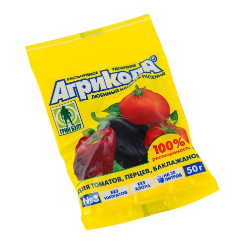 Агрикола 3 - подкормка для томатов, перцев пак.50г...