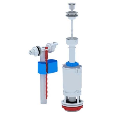 Арматура 1/2 нижний подвод пластиковый штуцер,  кнопка эконом, WC6550...