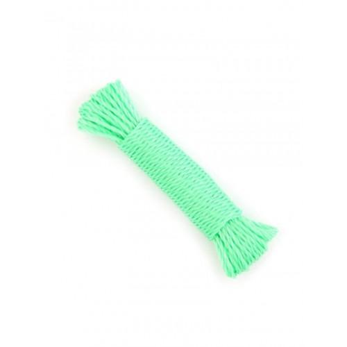 Веревка витая 3 нити (полидак) полипропилен бело-зеленая ф5мм*30м / 134105-30...