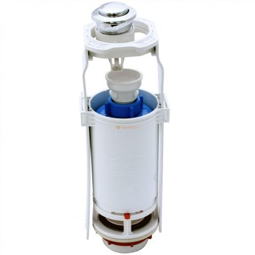 Клапан выпускной для унитаза кнопка 1-уров. хром WC7010C Ани пласт ...