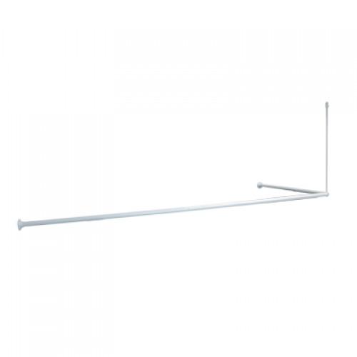 Гардина для ванной комнаты IDDIS  угловая 90*180см., белый, 040А200i14...