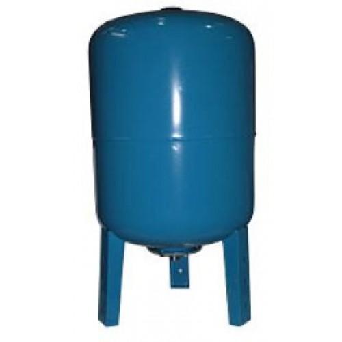 """Гидроаккумулятор UNIPUMP 100л для хол. воды,  вертикальный, синий .корпус- сталь, мембрана-EPDM, 1""""..."""