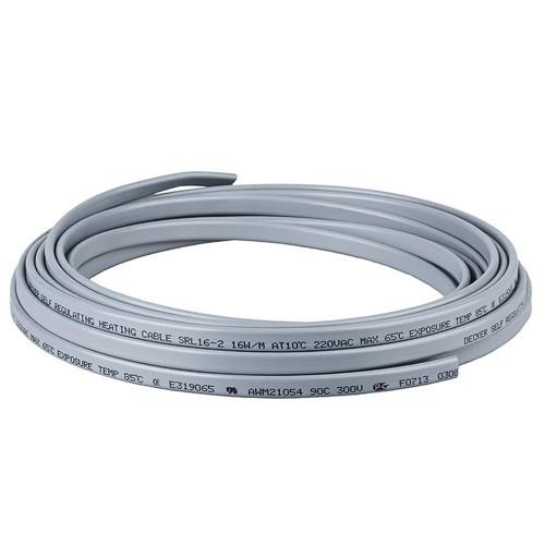 Греющий кабель GWS 30-2 (30 ватт/м.п.) БЕЗ ОПЛЕТКИ /бух.50м /Корея ...