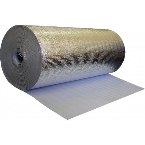 Изоляция Пенофол тип B 5мм, 1,2*30м. для тепло-звукоизол., 2х стор. фольгир....
