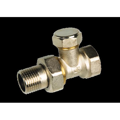 Клапан 1/2 ручной, прямой ник. под отвертку (радиаторный) SM 7601 / АТ-7058...