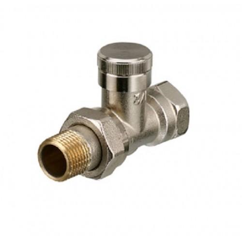 """Клапан (радиаторный) 1/2"""" прямой ручной, под шестигранник никель..."""