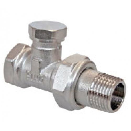 Клапан 3/4 ручной, прямой ник. под отвертку (радиаторный) АТ-7074...