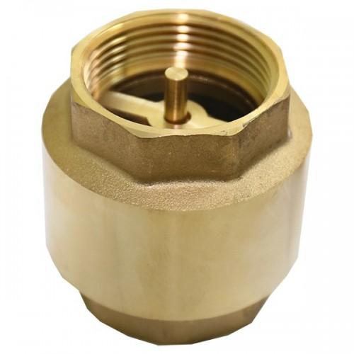 """Клапан обратный 1 1/4"""" никель с латунным штоком Frap..."""