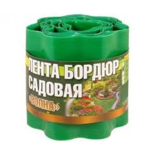 Лента бордюрная пластмассовая, зеленая 10 см*9 м...