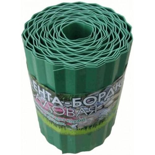 Лента бордюрная пластмассовая, зеленая 20 см*9 м...