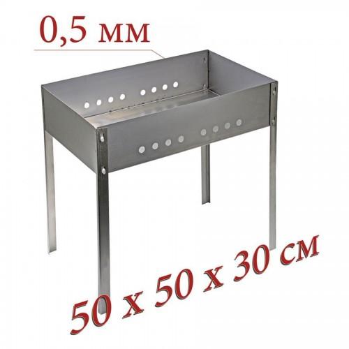 Мангал сборный металлический + 5 шампуров (50х30х14см толщ.0,5) коробка ...