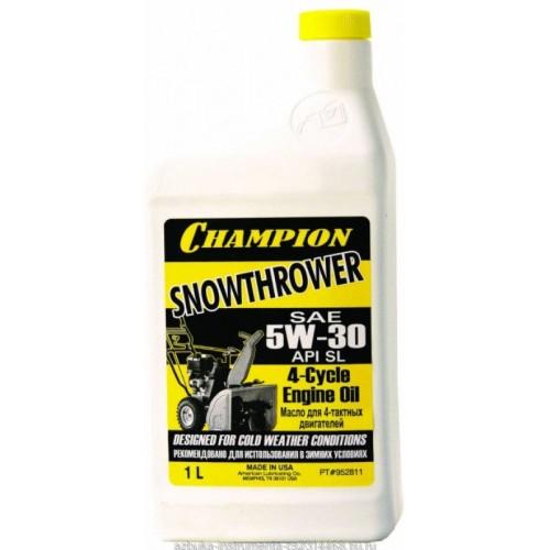 Масло минеральное для 4-тактных двигателей CHAMPION SAE 5W30 зимнее 1л 952811...