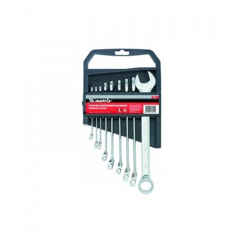15410 Набор ключей комбинированных, 6 х 22мм, 9шт., CrV, матовая полировка// MATRIX...