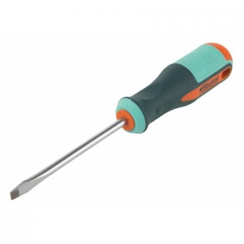 1040-09-SL6-100 Отвертка шлицевая STURM 6х100 антисколь.ручка