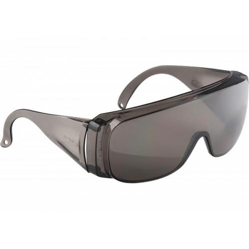 Очки защитные открытого типа, затемн, ударопрочный поликарбонат, бок и верх. защита СИБРТЕХ / 89156...