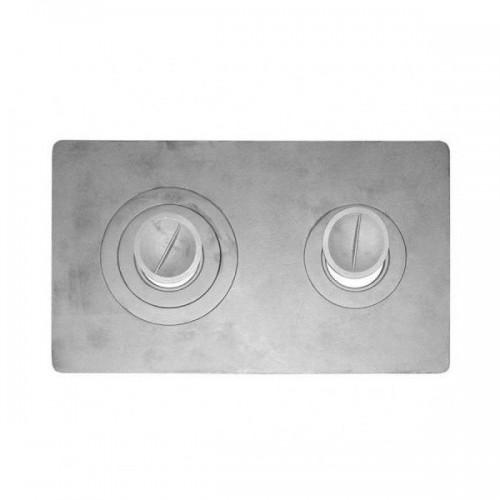 Плита цельная 2-х конфорочная П2-3  710*410*8 (Балезино)...