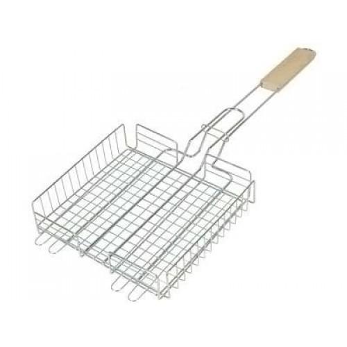 Решетка для барбекю никель 420*340 мм глубокая...