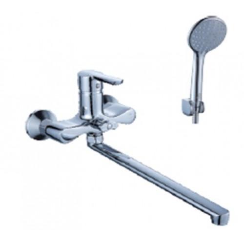 Смеситель для ванны DIADONNA  рычажный,  плоский излив, лейка 2х режимная  80222107 ...