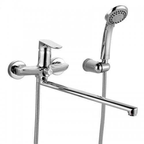 Смеситель для ванны IDDIS ECLIPT рычажный, длинный излив, с керамическим дивертором ECLSBL2i10...