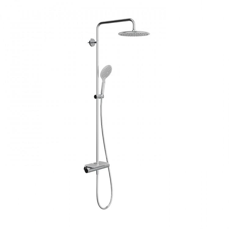 Смеситель для ванны IDDIS TERMOSPOT c термостатом с верхним душем TSTSBSTi06