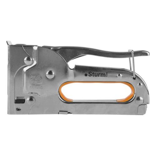 1071-01-04 Степлер ручной STURM металический упроченный тип 53, скобы 4-8мм