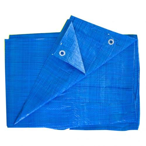 Тент  6* 8м синий с люверсами...