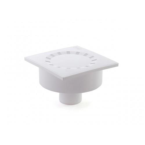 Трап вертикальн. вып. ф50  150*150 пласт решетка, белый сухой уп. 1шт....