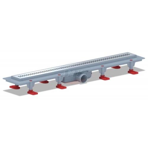 Трап пласт. линейный  ф40 650*620мм. н/сталь сухой TLQ1265G/уп.1шт....