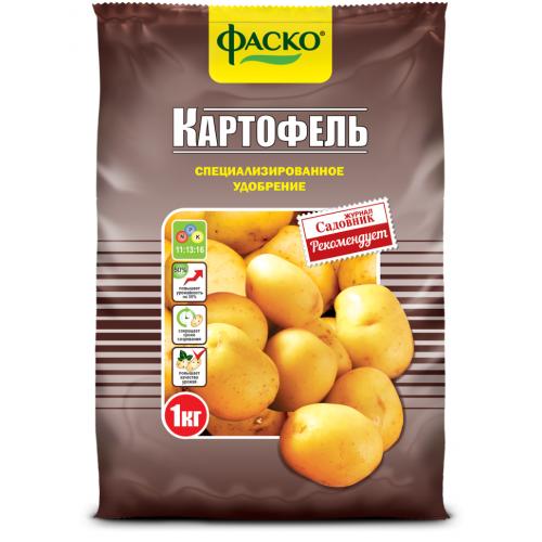 Удобрение для картофеля (азот/фосфор/калий -20%-20%-40%) 2,5кг....