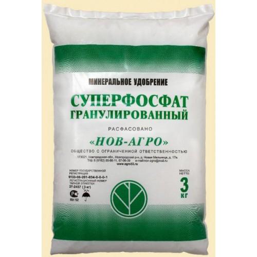 Удобрение Суперфосфат простой гранул. 3кг. ...