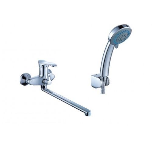 Смеситель для ванны DIADONNA  L- излив,  плав. ручка, d40,  лейка 2х реж., 80222100...