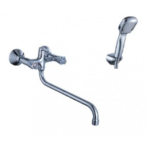 Смеситель для ванны DIADONNA  S-излив,  мет/кер, лейка 1 реж., 80225353...