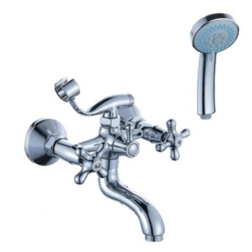 Смеситель для ванны DIADONNA  короткий S- излив, крест, мет/кер 80330314 ...