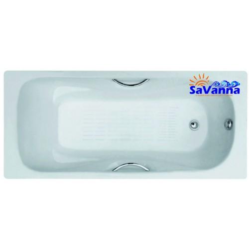 Ванна чугунная с ручками 1500*750*400 м SaVanna Fusion /88...