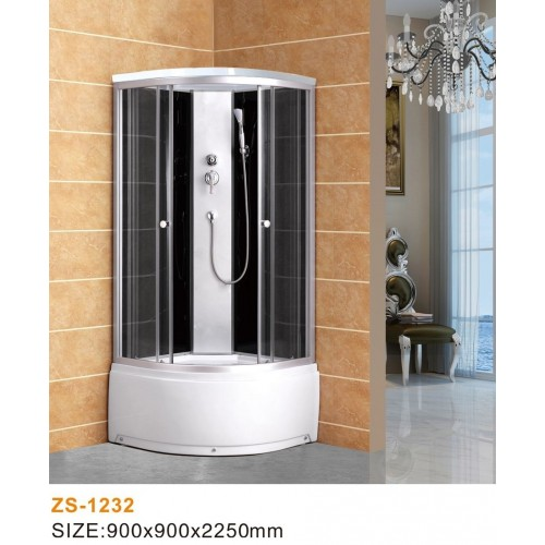 Душевая кабина ZILIDO ZS -1231 ПЕРСЕЙ В/П 800*800*2200 мм 1/4 Тропический душ, ручной душ,усиленный каркас, высококачест...