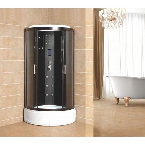 Душевая кабина ZILIDO ZS -9668 АФИНА  900*900*2200 мм 1/4 Тропический душ, ручной душ, электронная панель управления, ги...