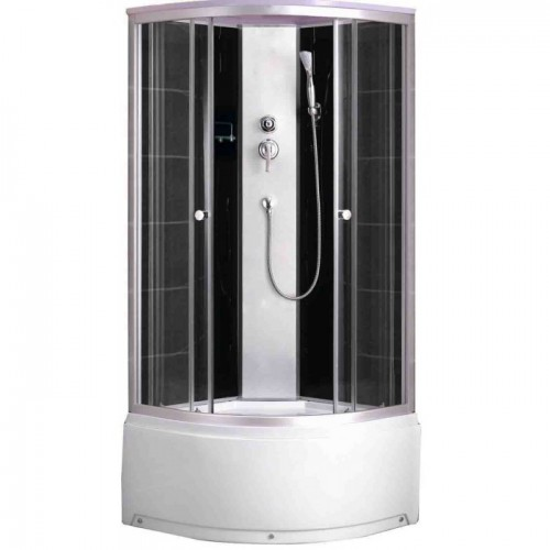 Душевая кабина ZILIDO AS-110-A ЮНОНА В/П  1000*1000*2100 мм 1/4 Тропический душ, ручной душ,усиленный каркас, высококаче...