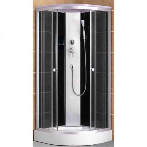 Душевая кабина ZILIDO AS-122-A ДИАНА Н/П  1000*1000*2200 мм 1/4. Тропический душ, ручной душ,усиленный каркас, высококач...