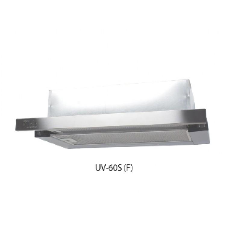 Вытяжка кухонная встр. OASIS UV-60S (600мм, 500м3/час, станд.ламп./2, 250Вт, AL фильтр/2, СТАЛЬ)