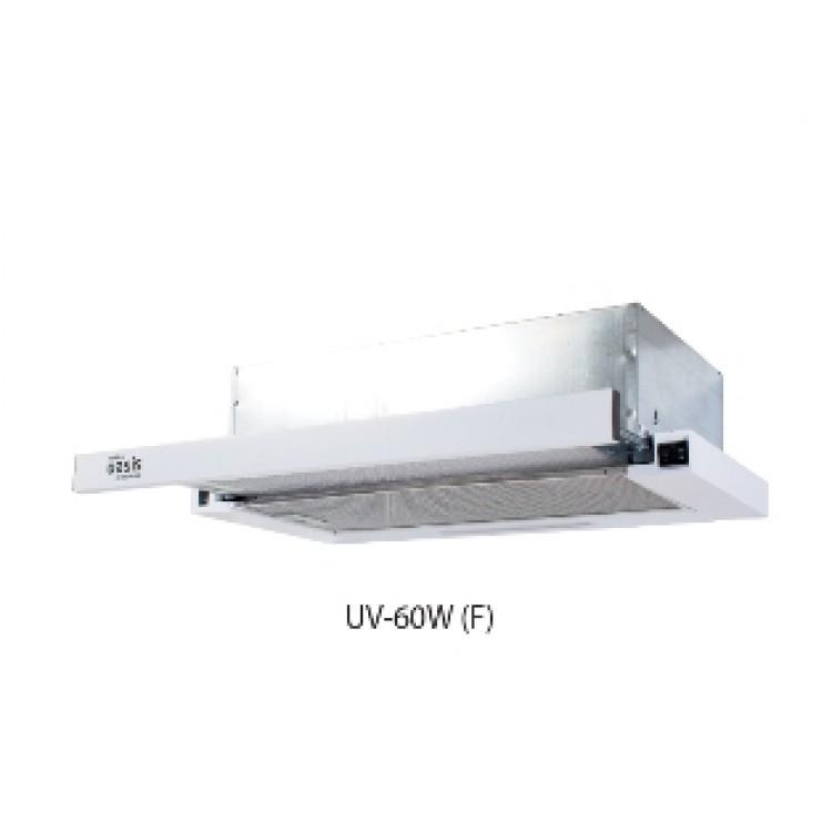 Вытяжка кухонная встр. OASIS UV-60W (600мм, 500м3/час, станд.ламп./2, 250Вт, AL фильтр/2, БЕЛЫЙ)