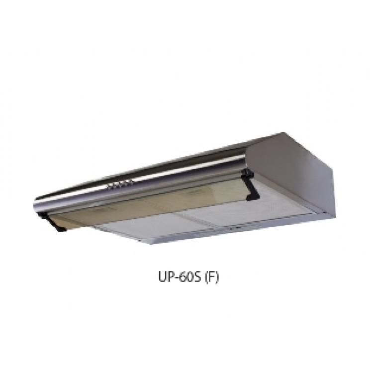 Вытяжка кухонная подвес. OASIS UP-60S (600мм, 350м3/час, станд. лампа, 125Вт, AL фильтр/2, СТАЛЬ)
