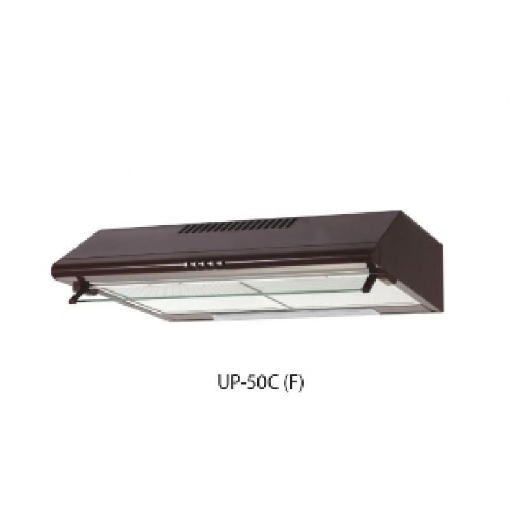 Вытяжка кухонная подвес. OASIS UP-50C (600мм, 350м3/час, станд. лампа, 125Вт, AL фильтр/2, КОРИЧН.)