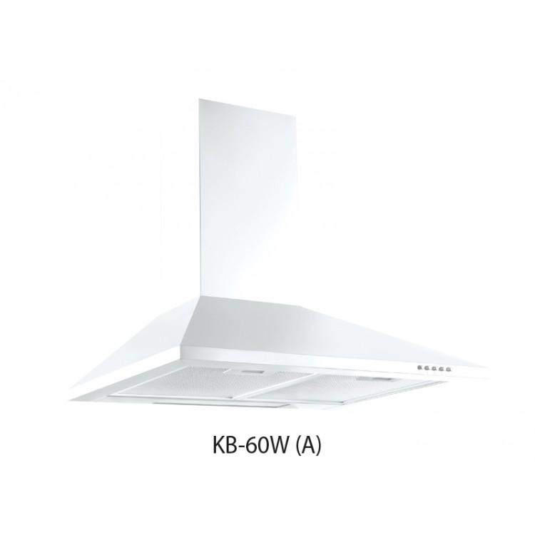 Вытяжка кухонная купольная OASIS KB-60W (600мм, 700м3/час,LED/2, 107Вт, AL фильтр/2, БЕЛЫЙ)