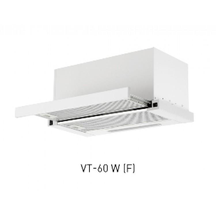 Вытяжка кухонная встр. OASIS VT-60W (600мм, 1000м3/час, станд.ламп./2, 280Вт, AL фильтр/2, СТАЛЬ)