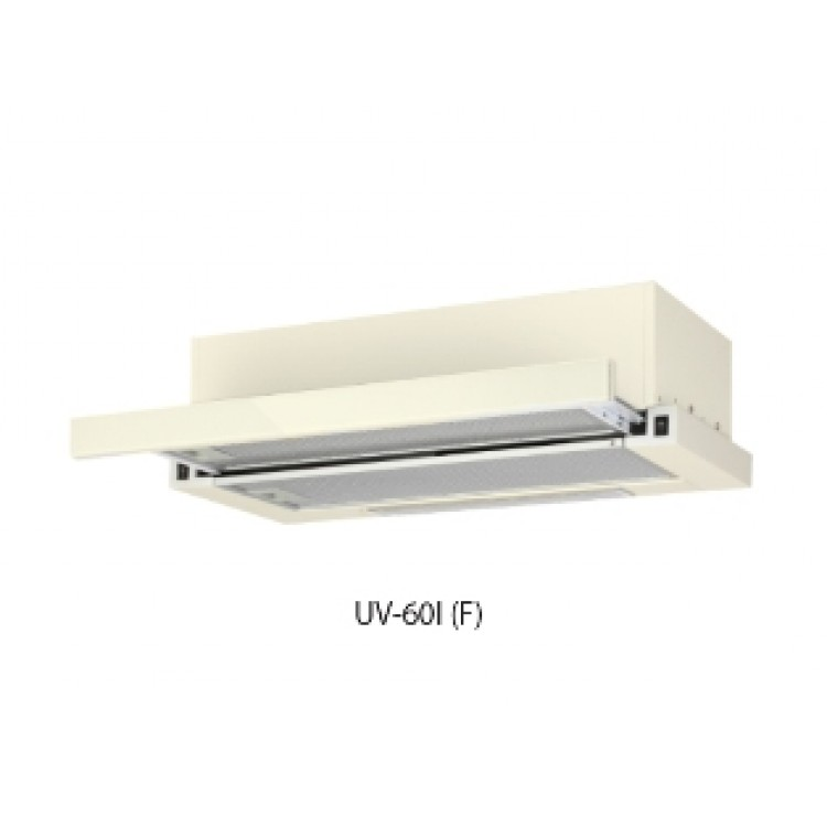 Вытяжка кухонная встр. OASIS UV-60I (600мм, 500м3/час, станд.ламп./2, 250Вт, AL фильтр/2, БЕЖ.)
