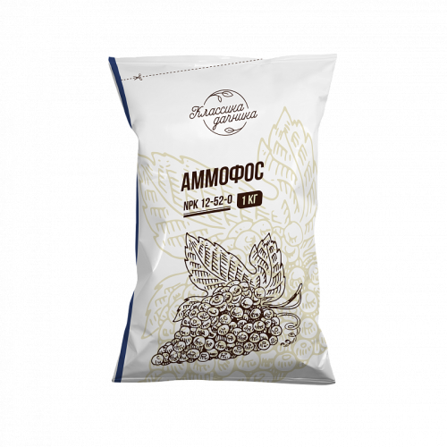 Удобрение Аммофос NPK-12-52-0 для всех видов культур 1кг...