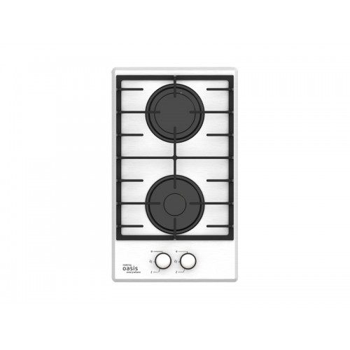 Варочная панель газовая (900/2750Вт., 2 конф. металл, БЕЛАЯ, 315х520х53) P-MND OASIS...