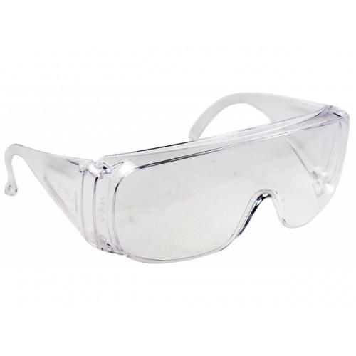Очки защитные открытого типа прозрачные ударопрочный поликарбонат Сибртех...