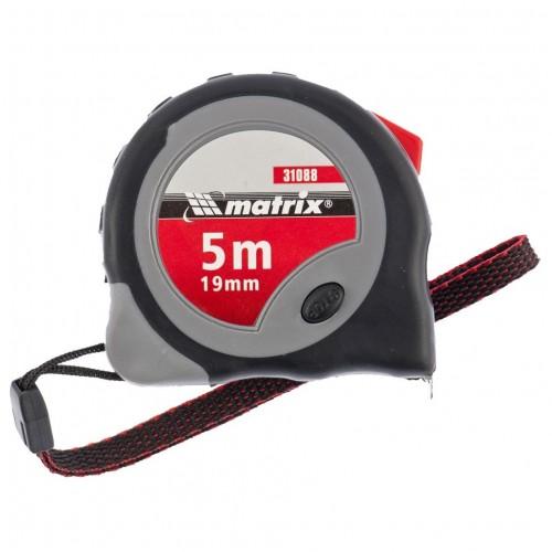 Рулетка Continuous fixation 5мх19мм 2-х комп.корпус плавная фиксация MATRIX...