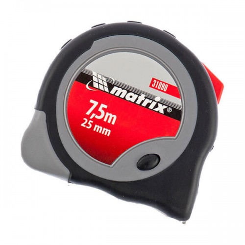 Рулетка Continuous fixation 7,5мх25мм 2-х комп.корпус плавная фиксация MATRIX...
